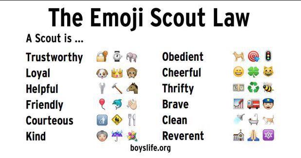 Emoji Scout Law Bsa Troop 93